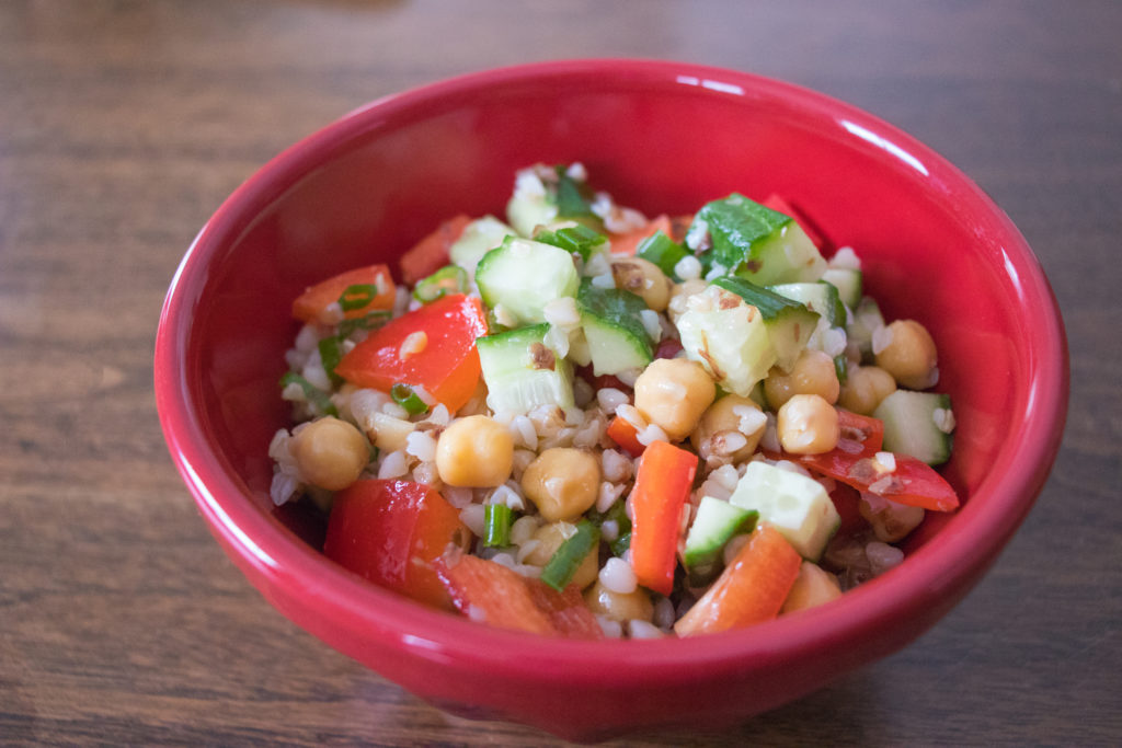 buckwheat salad with chickpeas