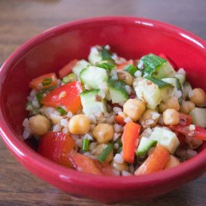 buckwheat salad with chickpeas