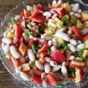 bean salad peach peppers